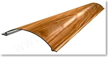Образец металлического сайдинга, имитирующего бревно