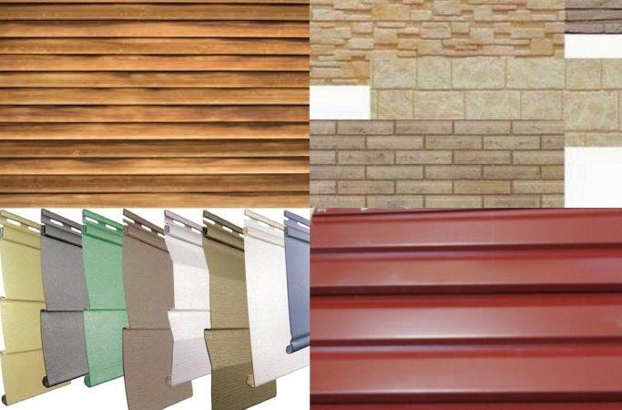 Обшивку фасадов можно производить с использованием разных материалов