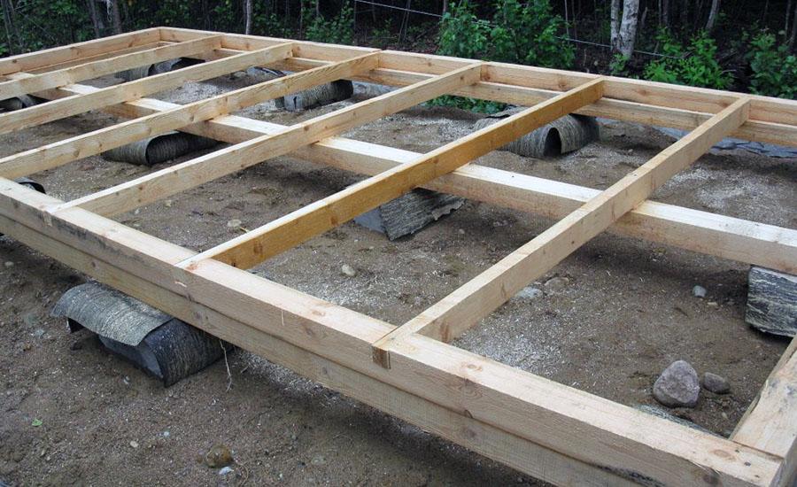 Обустройство столбчатого фундамента из бетонных блоков.