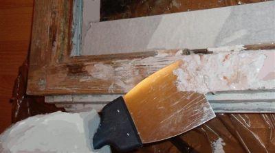 Очистка деревянной рамы от краски