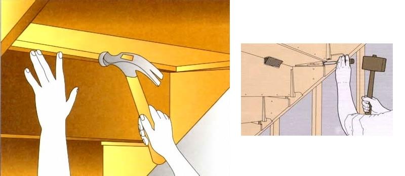 Один из примеров того, как как избавиться от скрипа деревянной лестницы в собственном доме