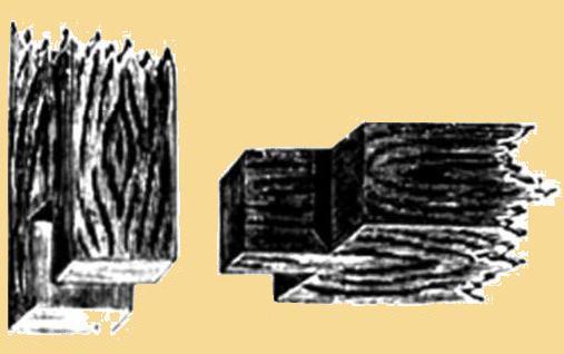 Одиночный прорезной шов