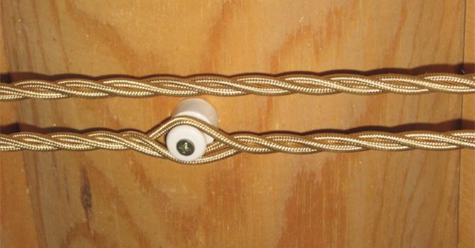 Оформление кабеля для проводки в стиле ретро