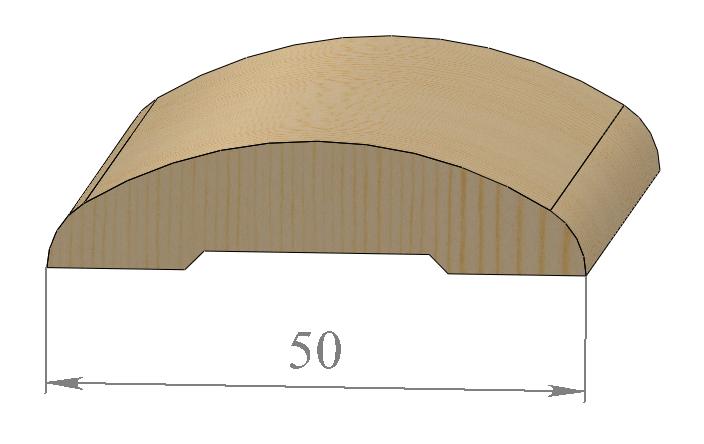 Округлые деревянные дверные наличники 50 мм