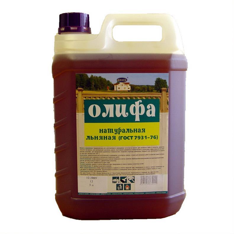 Олифа льняная по ГоСТ 7931-76