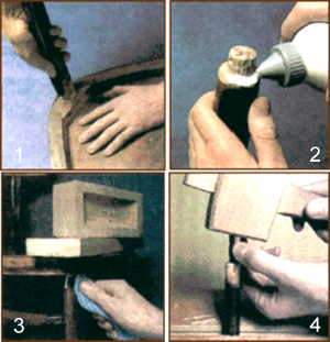 Основные этапы ремонта расшатанного стула