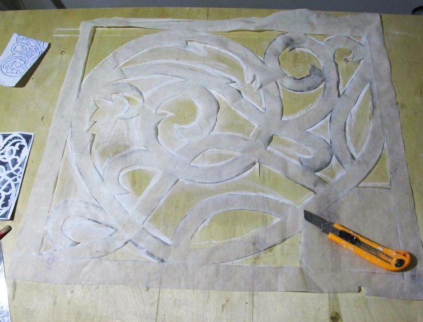 От качества переноса орнамента на основание во многом зависит результат работы