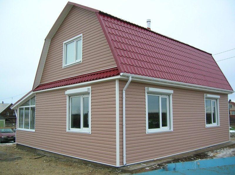 Отделка жилого дома виниловым сайдингом