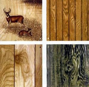 Пара примеров с декоративной поверхностью листов