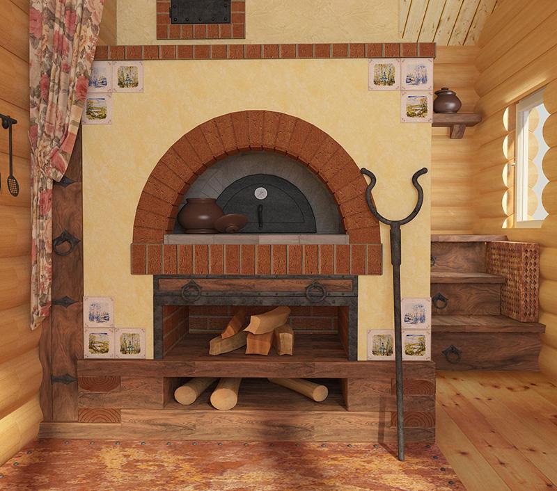 Печка в деревянном доме