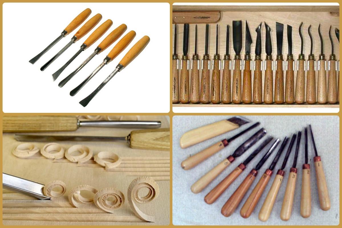 Перед тем, как научиться вырезать фигурки из дерева, позаботьтесь о наличии подходящего инструмента (цена набора – от 3000 руб.)