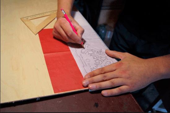 Перенесение с помощью копировальной бумаги