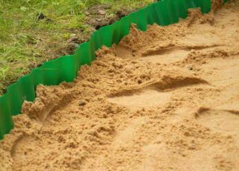 Песчаная подушка под садовую дорожку