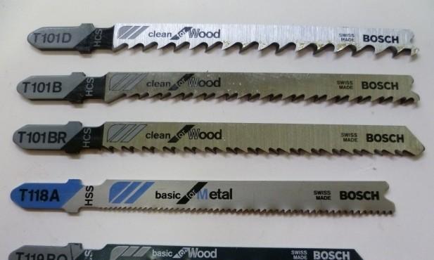 Пилы для электролобзика по дереву с различными маркировками