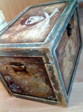 Пиратский сундук поможет оформить помещение в необычном стиле