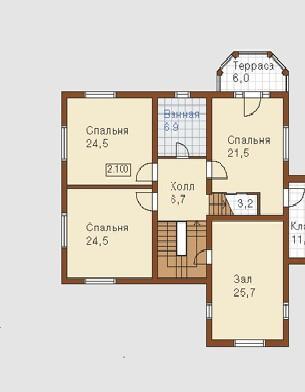 План дома в один этаж.