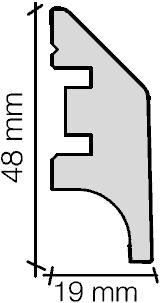 Пластиковые плинтуса для полов 19х48 мм отлично вписываются в интерьер