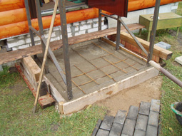 Площадка для заливки фундамента