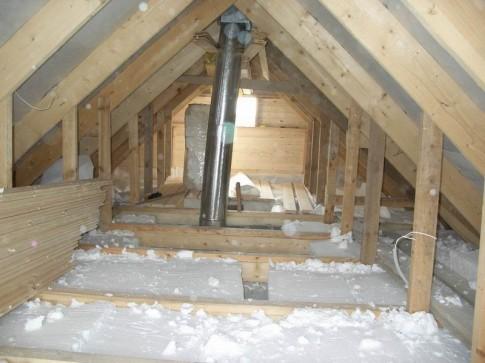 Показано, как утеплить чердак в собственном деревянном доме.