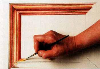Покраска деревянной рамы