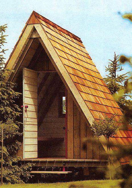 Полностью деревянный хозблок