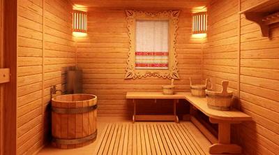 Помывочная в деревянной бане должна иметь решетчатый пол или сток