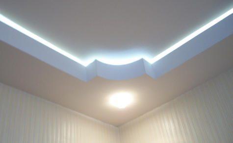 Потолочная галтель для скрытой подсветки