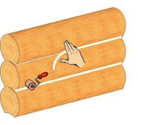Приклеенный шнур прокатывается узким валиком.