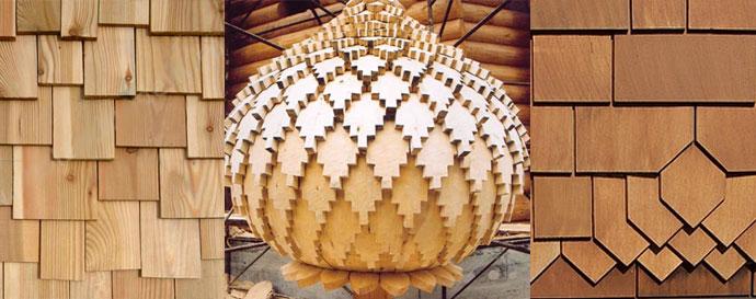 Пример декоративной кровельной конструкции из дерева, созданной мастерами своего дела