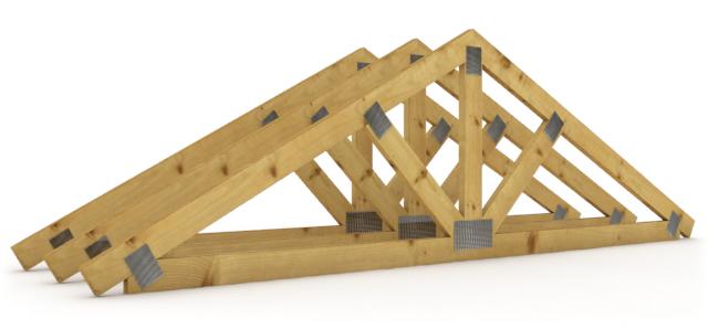 Пример конструкции стропильных ферм