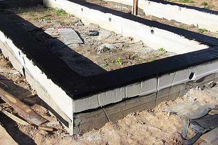 Пример надежной гидроизоляции ленточного фундамента