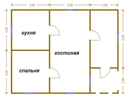 Пример планировки дома без санузла