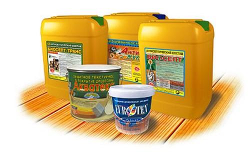 Примеры антисептиков, предназначенных для защиты древесины от деструктивных воздействий чрезмерной влажности