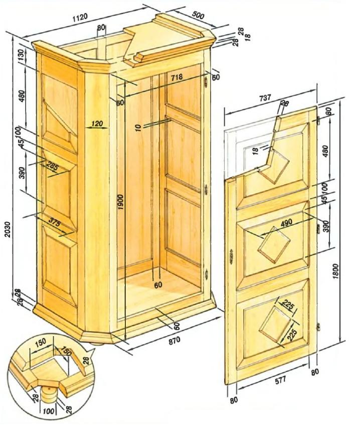 Проект шкафа для одежды
