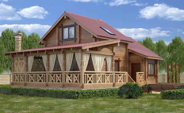 Проекты деревянных домов из профилированного бруса предоставляют широкий выбор стилей и типов сооружений.