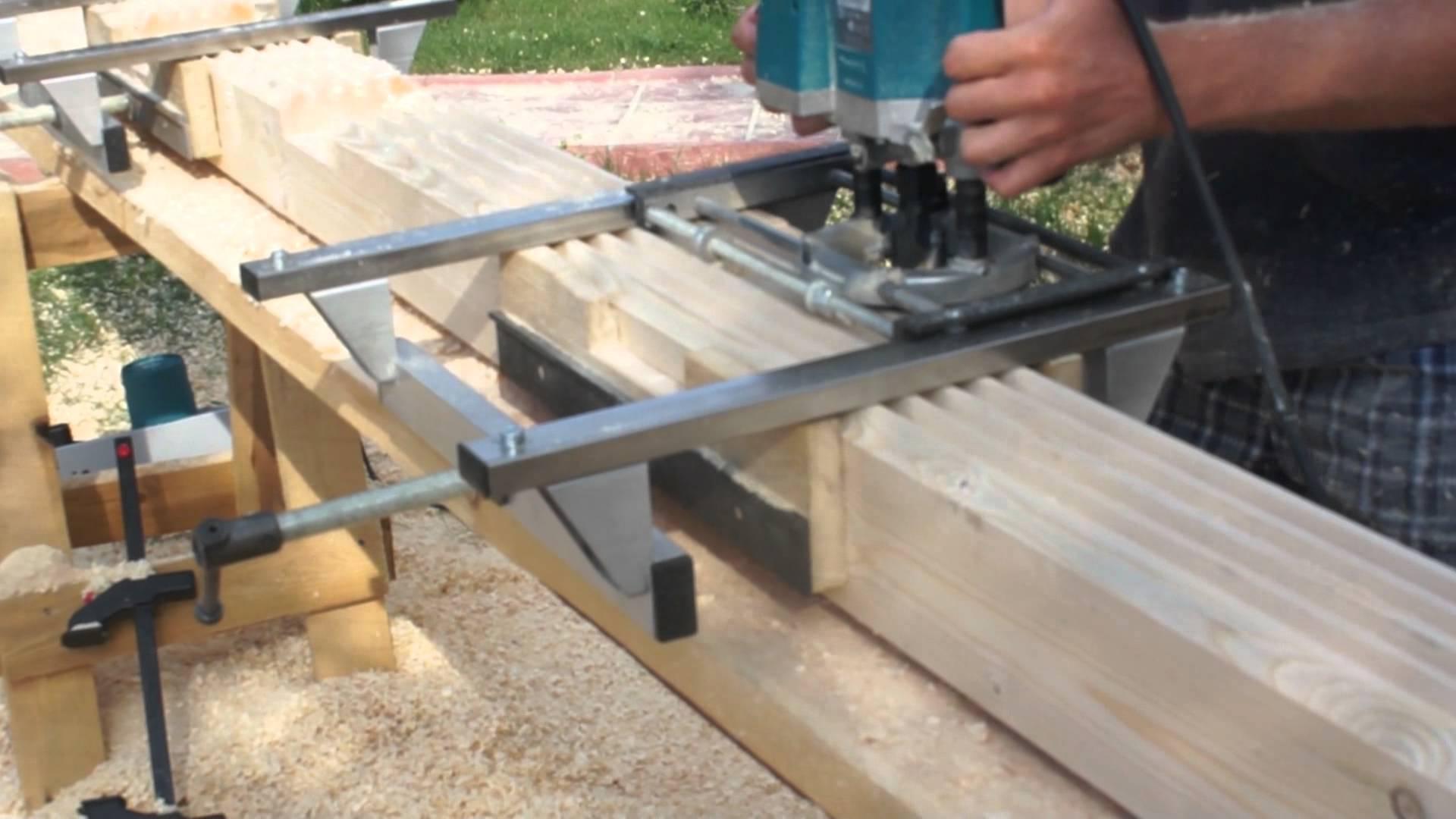 Профилирование бруса для строительства деревянных домов.