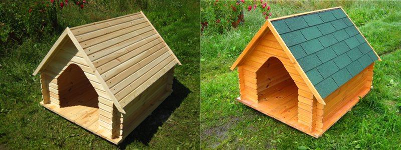 Простейшая будка из дерева.