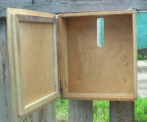 Простой почтовый ящик из дерева своими руками