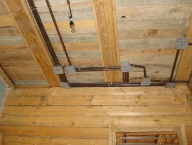 Проводку можно прятать под потолком.