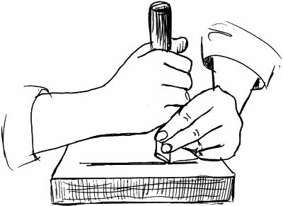 rabota-vdol-volokon Техника черчения рисунка для резьбы по дереву. Геометрическая резьба по дереву для начинающих