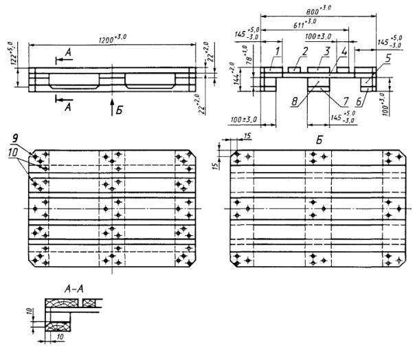 Размеры деревянных поддонов могут соответствовать ГОСТу, а могут быть свободного размера