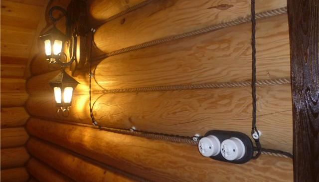 Разводка проводки в деревянном доме