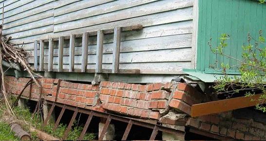 Ремонт фундамента кирпичного дома 58