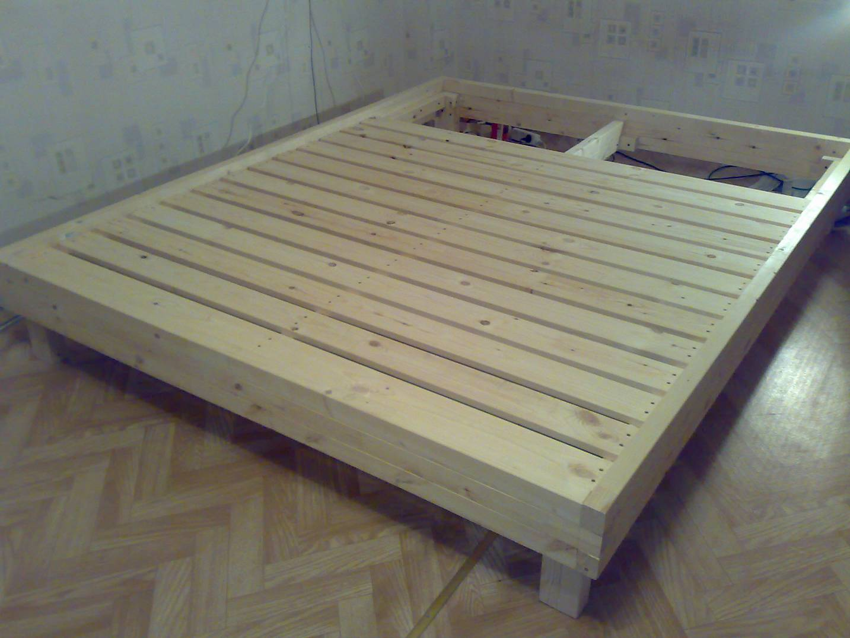 Как сделать кровать из досок фото 842