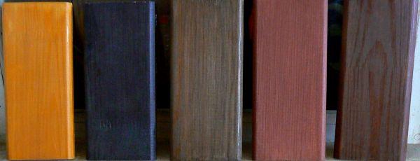 Результат обработки цветной пропиткой