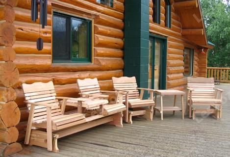 Садовая деревянная мебель из бруса
