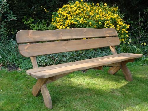 Садовая деревянная скамейка