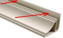 Саморезы вкручиваются в элемент, указанный стрелками на фото