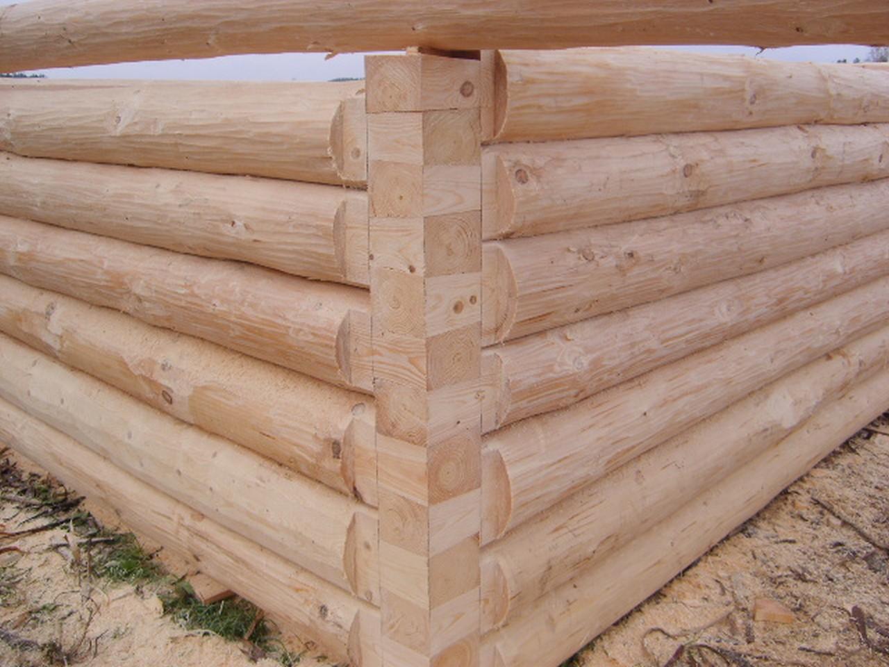 Сборка стен сруба из бревен методом – «без остатка»