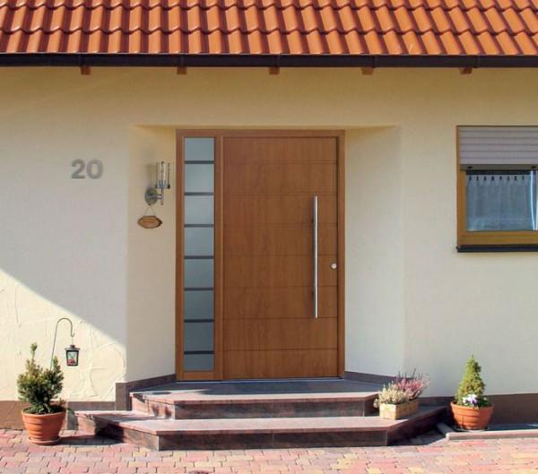 Щитовые входные двери из дерева для дома